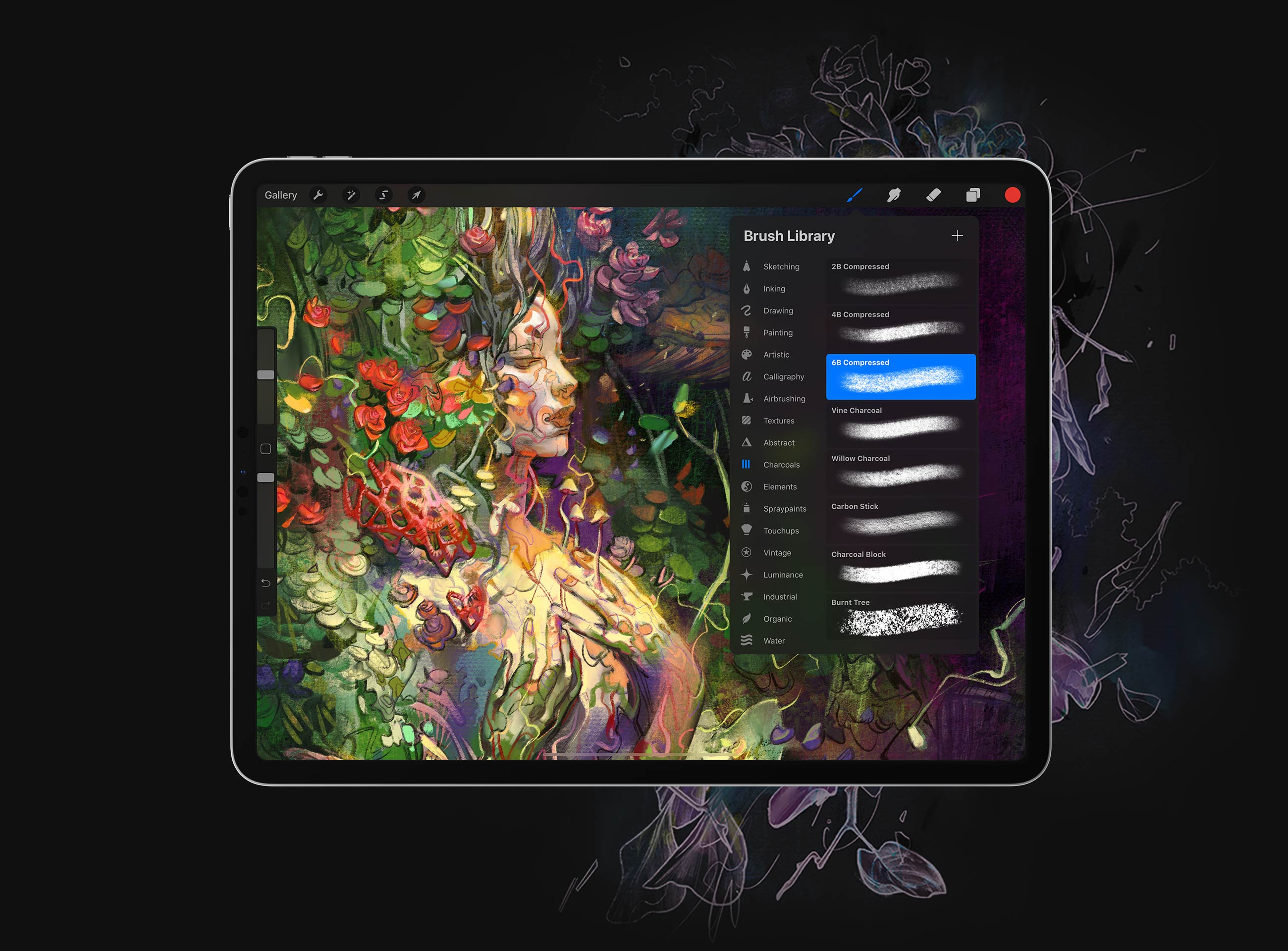 Procreate The World S Biggest Library Of Brushes At You Fingertips